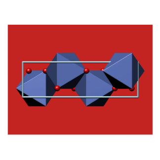 Goethite molecule postcard