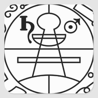Goetia_seal_of_solomon Square Sticker