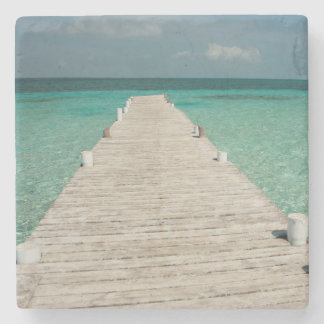Goff Caye, a popular Barrier Reef Island Stone Coaster