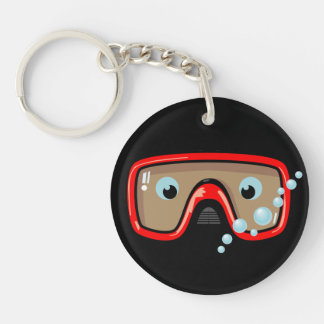 Goggles Personalised Double-Sided Round Acrylic Key Ring