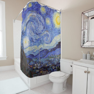 "Gogh, ""Starry Night"" Shower Curtain"