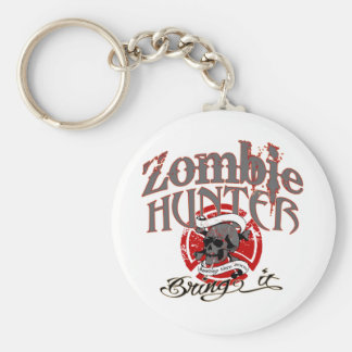 Goin' after Zombies! Basic Round Button Key Ring