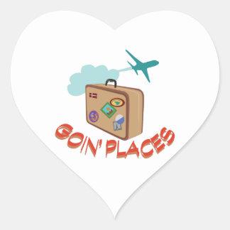 Goin' Places Heart Sticker