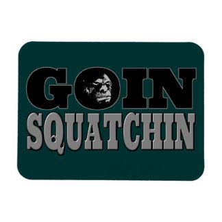 Goin Squatchin Rectangular Magnet