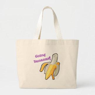going bananas! banana jumbo tote bag