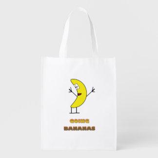 Going bananas reusable grocery bag
