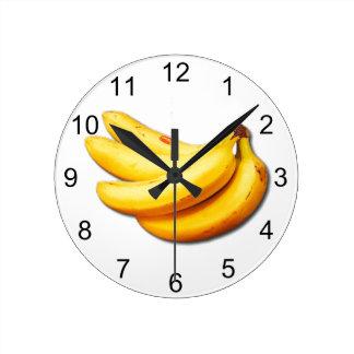 Going Bananas Round Clock