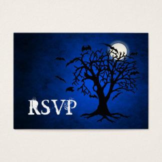 Going Batty Blue RSVP Business Cards