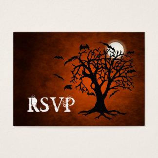 Going Batty Orange RSVP Business Cards