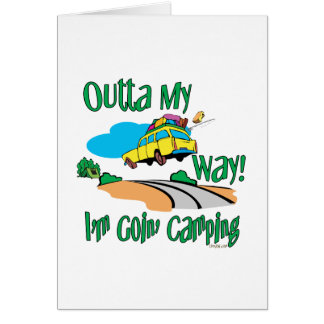 Going Camping Greeting Card
