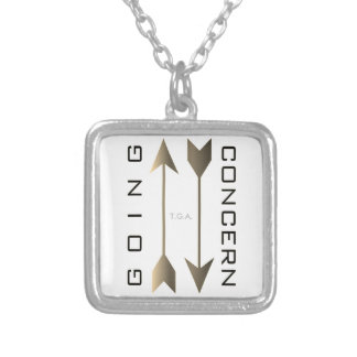"""Going Concern"" Silver Plated Necklace"