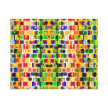Going Crazy Colorful Abstract Pattern Stretched Canvas Prints