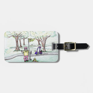 Going for a Birdie Luggage Tag