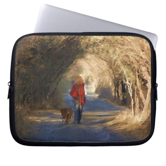 going for a walk laptop sleeve