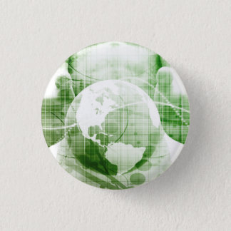 Going Forward with Business Success and Growth 3 Cm Round Badge