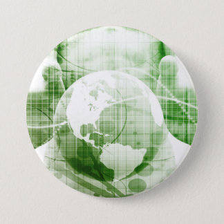 Going Forward with Business Success and Growth 7.5 Cm Round Badge