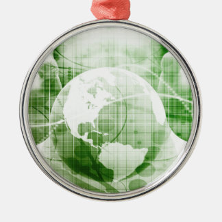 Going Forward with Business Success and Growth Metal Ornament