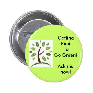 Going Green! 6 Cm Round Badge