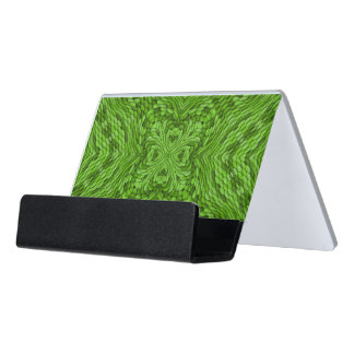 Going Green Colorful Desk Business Card Holder