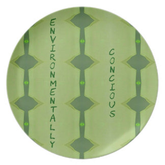 Going Green Environmentally Conscience Plate