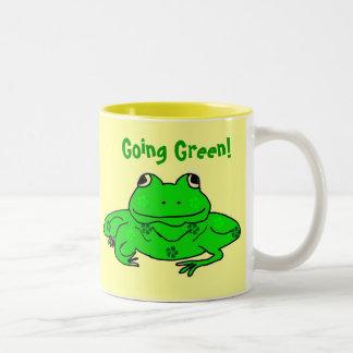 Going Green Frog Mug