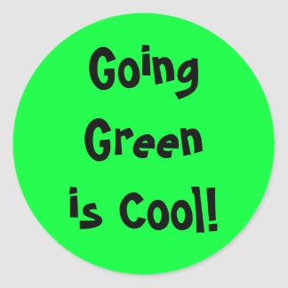 Going Green is Cool! Sticker