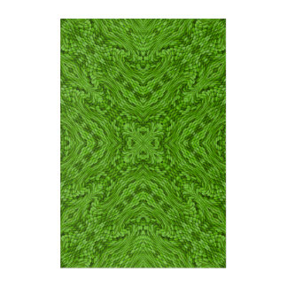 Going Green Kaleidoscope   Acrylic Wall Art