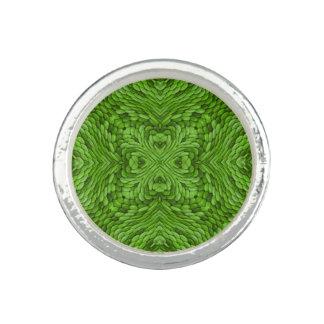 Going Green Kaleidoscope   Custom Rings