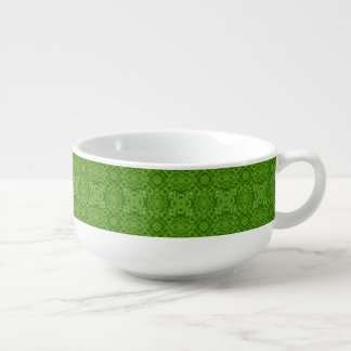 Going Green Kaleidoscope  Soup Mugs Soup Bowl With Handle