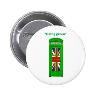 Going green London phone box Pins