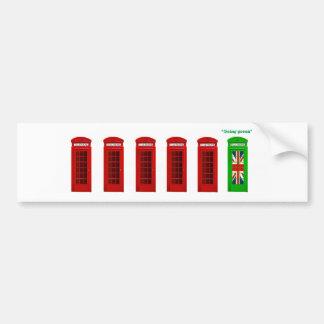 Going Green London phone box Bumper Sticker