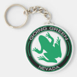 Going Green Nevada Frog Basic Round Button Key Ring