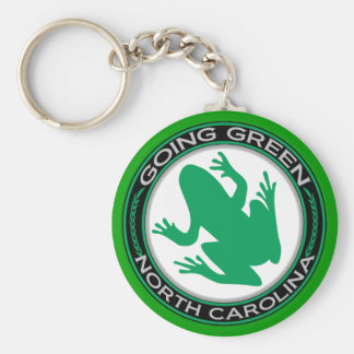 Going Green North Carolina Frog Key Ring