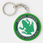 Going Green North Carolina Frog Keychains