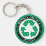 Going Green Recycle Georgia Key Chain