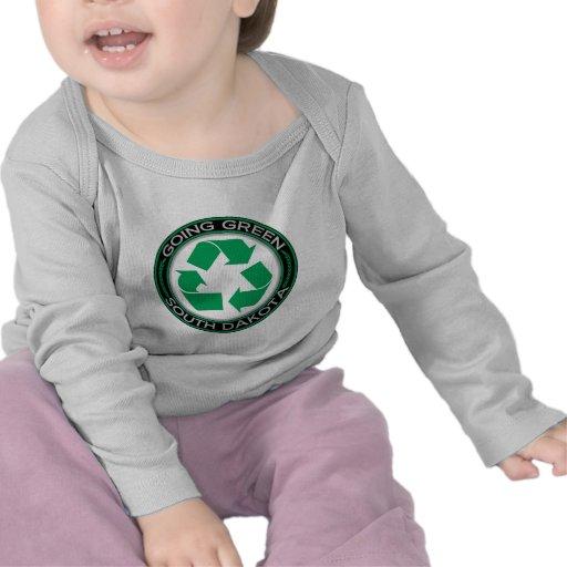 Going Green Recycle South Dakota Tee Shirt