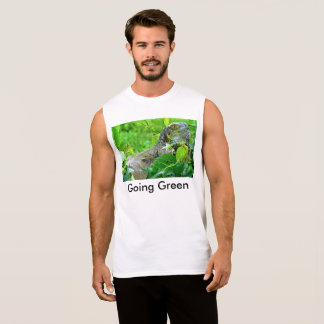 going green sleeveless shirt