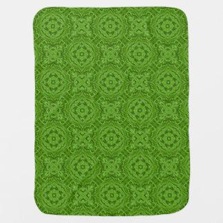 Going Green  Tiled Design Baby Blankets