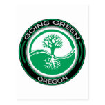 Going Green Tree Oregon Post Cards