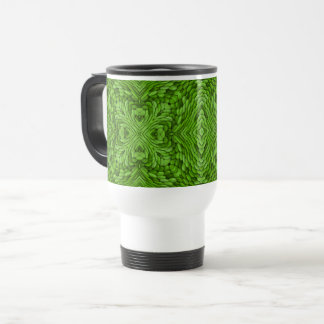 Going Green Vintage Kaleidoscope  Travel Mug