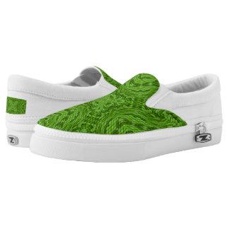 Going Green Zipz Slip On Shoes, US Men & Women Printed Shoes