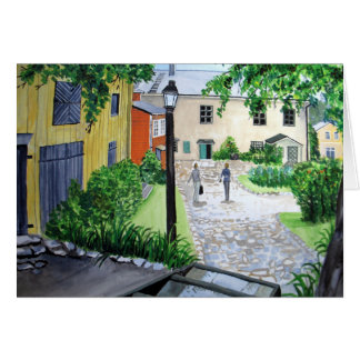 Going Home Danish Courtyard Card