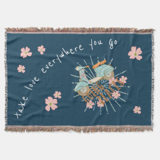 Going Places +Take Your Love, Flowerchild Throw Blanket