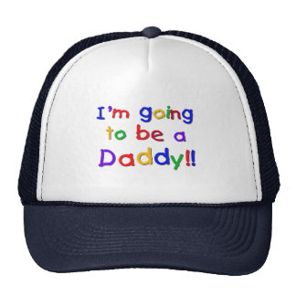 Going to be a Dad-Primary Colors Hats