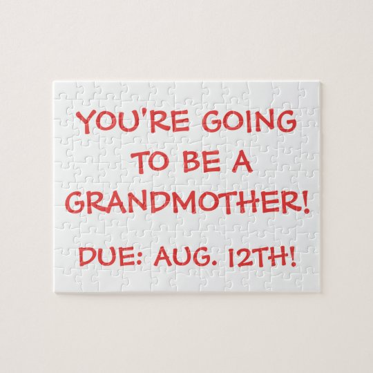"""Going to be a Grandmother!"" Puzzle"
