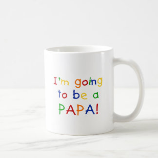 Going to be a Papa - Primary Colors Basic White Mug