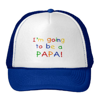 Going to be a Papa - Primary Colors Hats