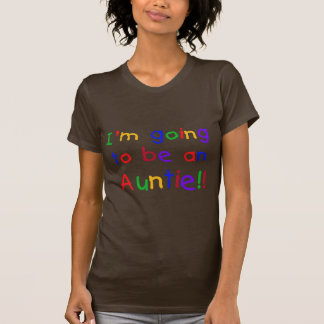 Going to be an Auntie Primary Colors T-shirts