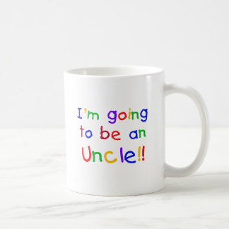 Going to be an Uncle Primary Colors Text Coffee Mug