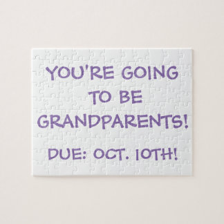 """""""Going to be Grandparents!"""" Puzzle"""